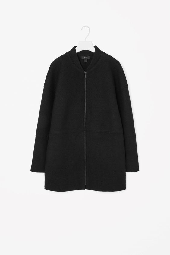 COS | Raw-edge wool coat