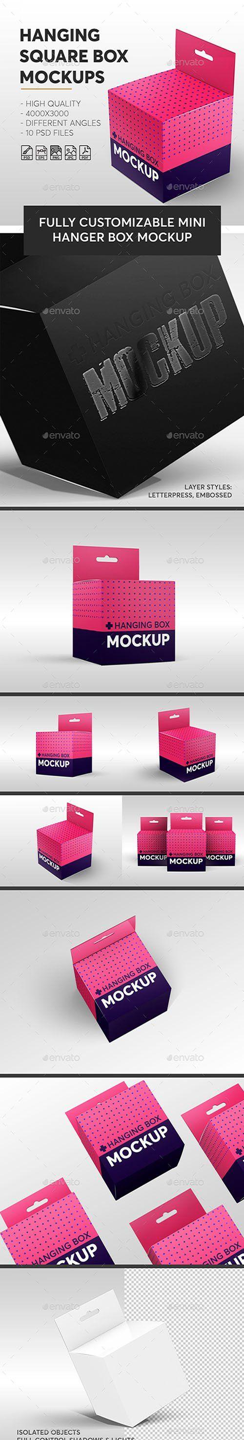 Download Gr Hanging Square Box Mockups V 1 Miscellaneous 23078385 Box Mockup Flyer Mockup Mockup