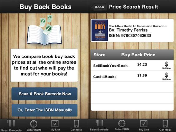 BuyBackTextbooks App -Turn old books into cash!