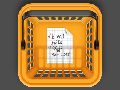 Shopping basket app icon