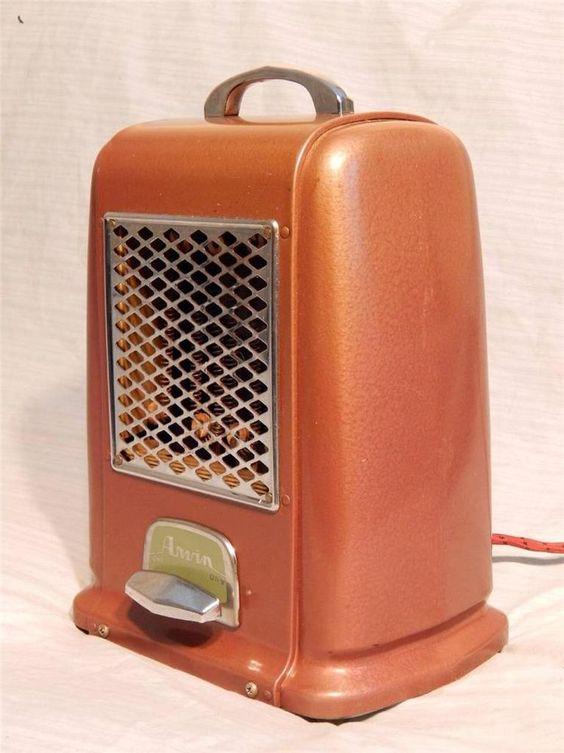 Vintage Arvin Art Deco Electric Portable Space Heater W