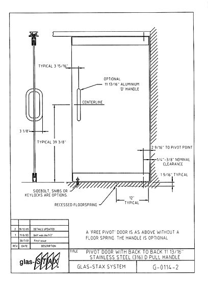Glass revolving door with aluminium frame dwg autocad drawing