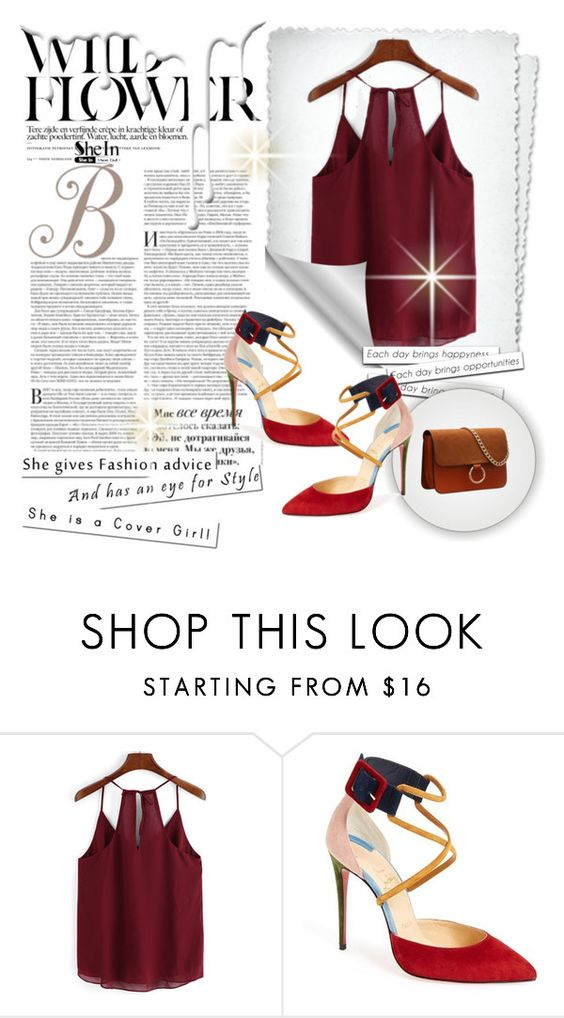 """Shein contest"" by kmen-s ❤ liked on Polyvore featuring Christian Louboutin and Nivea"
