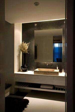 Anteba o interiores pinterest cuarto de ba o y ba os de hu spedes - Iluminacion de banos modernos ...