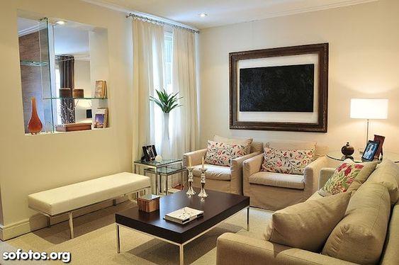 sala de estar decorada simples