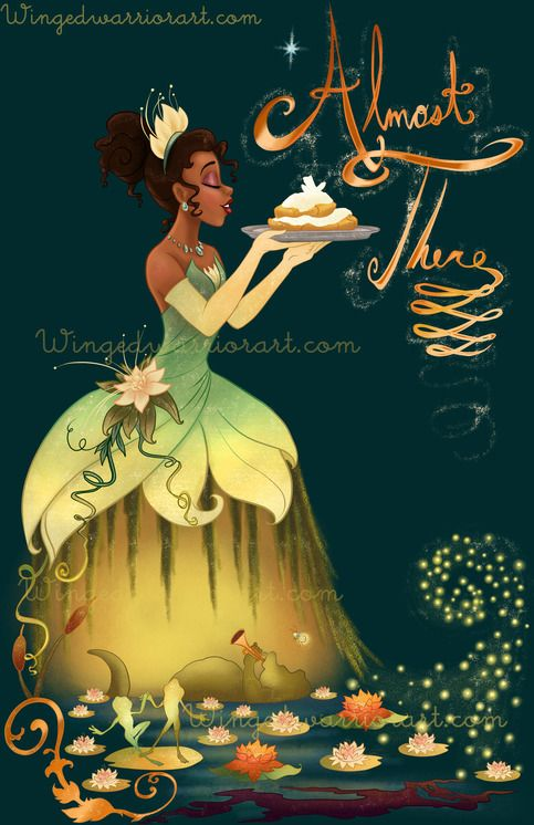 Disney inspired Princess and the frog poster print wall art gift merchandise