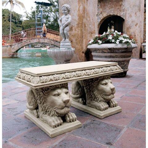Pin By Fernando Barbatelli On Gardening Stone Garden Bench Design Toscano Garden Statues