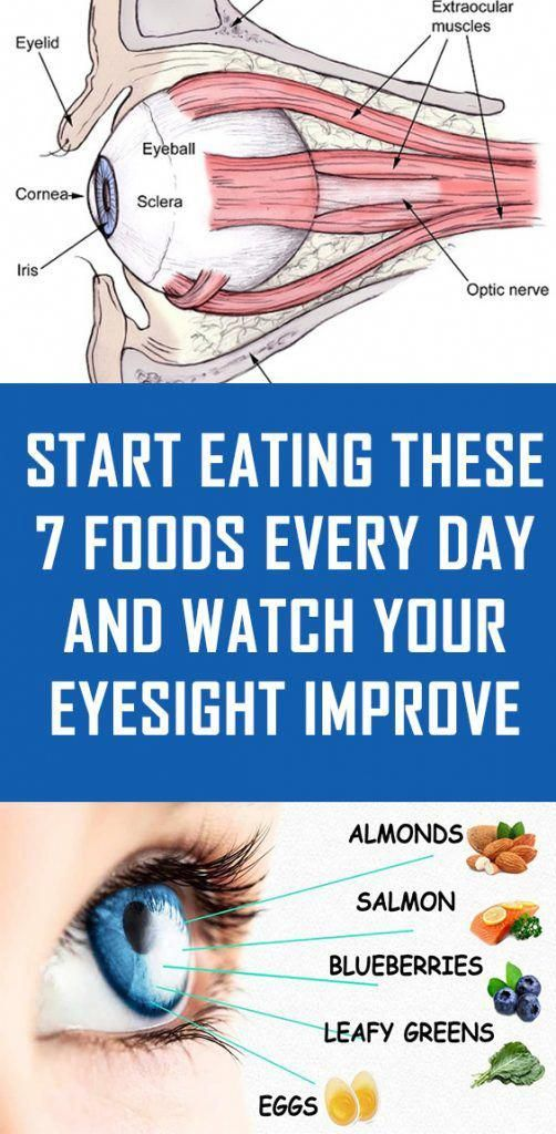 Start Eating These 7 Foods Every Day And Watch Your Eyesight Improve Dailyeyeexercisestoimprovevision Eyesight Health Health And Wellness