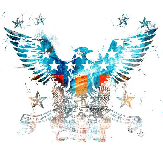 Águia Braslillis - Estampa localizada para t-shirt Woxi