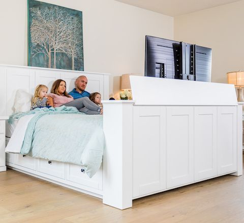 Hartford Tv Bed Most Popular Bed With Tv Lift Design Yours Today In 2020 Tv Beds Bed Tv Lift Bed