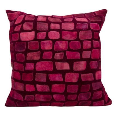 Decorative 20x20 Red Toss Pillows Faux