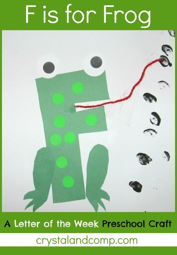 Letter of the Week-  craft F is for Frog.  She has most of the letters.  Looks like she just hasn't quite made it through the alphabet yet.