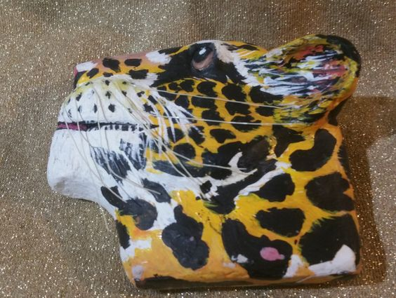 One of a kind hand crafted Tiger Head by ThenThereWas on Etsy
