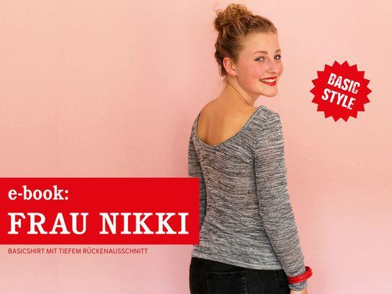 Nähanleitungen Mode - FrauNikki Basicshirt mit schönem Rücken, ebook - ein Designerstück von schnittreif bei DaWanda