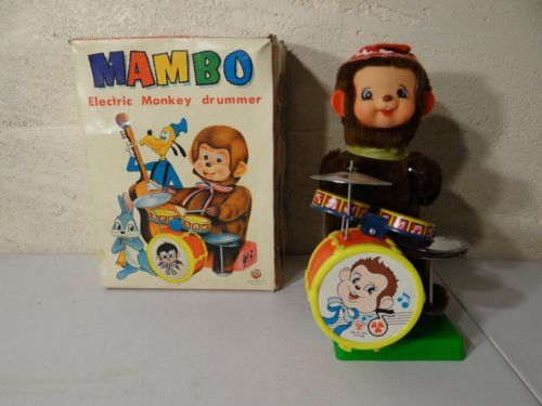 "MAMBO ELECTRIC PANDA BEAR DRUMMER 11"" toy   NIB      Taiwan - http://hobbies-toys.goshoppins.com/electronic-battery-wind-up-toys/mambo-electric-panda-bear-drummer-11-toy-nib-taiwan/"