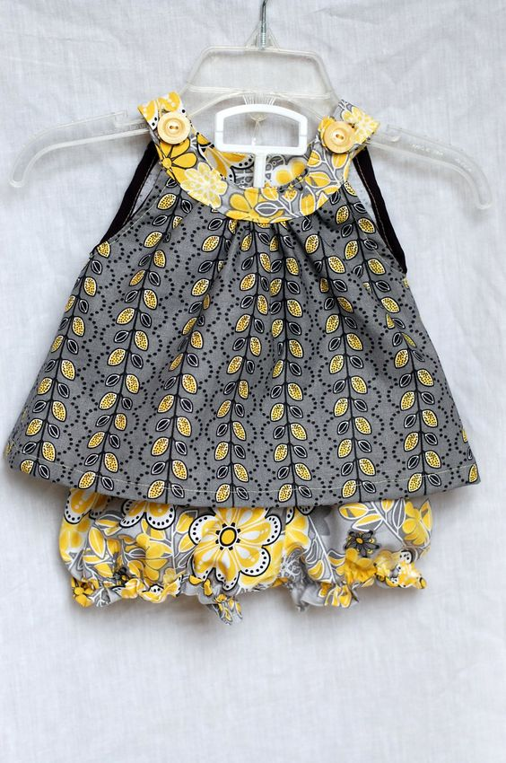 Beth Being Crafty: Yellow + Gray = Cute Summer Clothes!