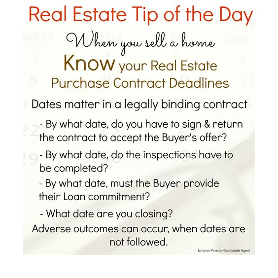 Know your Real Estate Purchase Contract deadlines when you sell a - real estate purchase agreement template