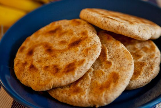 Tibetan flat bread - amazing with honey and hot sauce, or just to dip in the dal recipe!