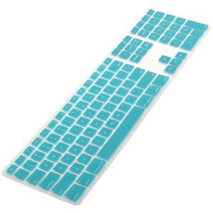 COSMOS ® Aqua Blue Ultra Thin silicone soft keyboard cover skin for Apple iMac MB110LL/A with Cosmos Fastening Strap Cosmos