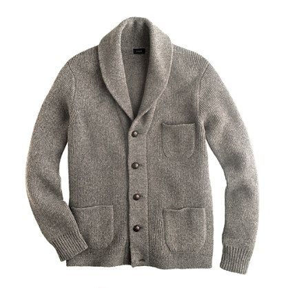 Densely knit and finished with a generous shawl collar and real ...