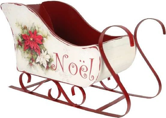 Traineau Noel Traîneau de Noël déco bois/métal | Christmas sleigh, Wooden sleigh