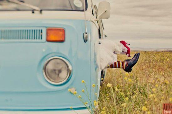 lazy hazy summer days spent in a VW campervan