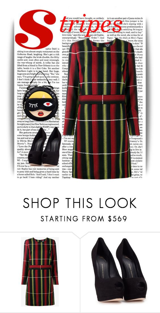 """~stripes~"" by confusgrk ❤ liked on Polyvore featuring Creatures Of The Wind, Giuseppe Zanotti and AmiciMei"