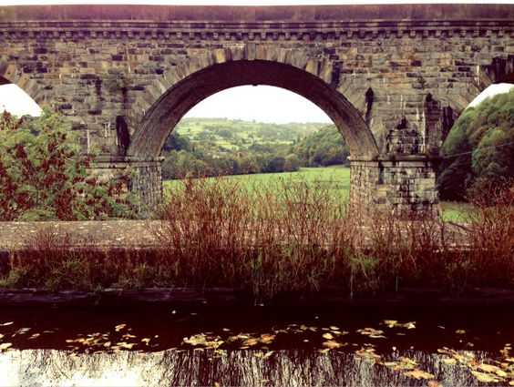 The railway arch bridging Wales and England.
