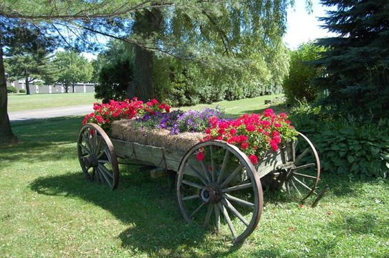 charriot de fleurs