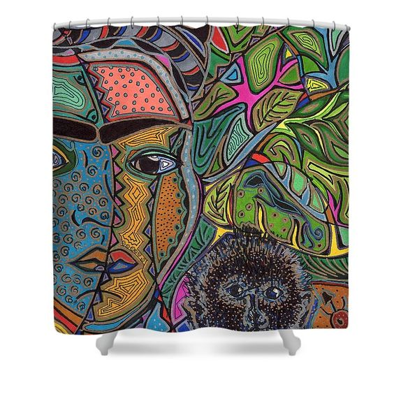 Frida And Her Monkey Shower Curtain For Sale By Sarah Niebank