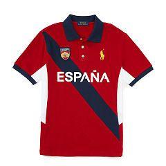 España Cotton Mesh Polo - Boys 1 ½ - 6 years Polo Shirts & Rugbys  - Ralph Lauren UK