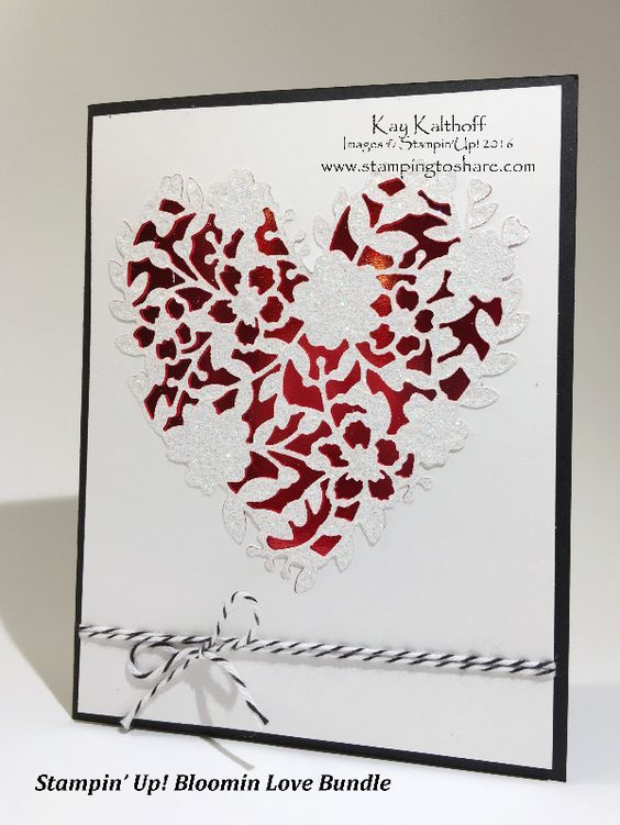 Stampin' Up! Bloomin' Love Bundle - It's a WOW - with the How To Video, Gorgeous Valentines, Clean and Simple, DIY Greeting Cards, Kay Kalthoff, #stampingtoshare: