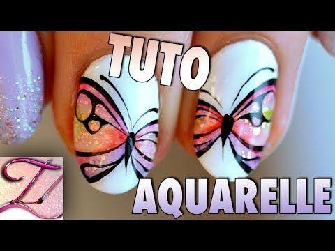 Nail Art Papillon Abstrait En Aquarelle Video Tartofraises