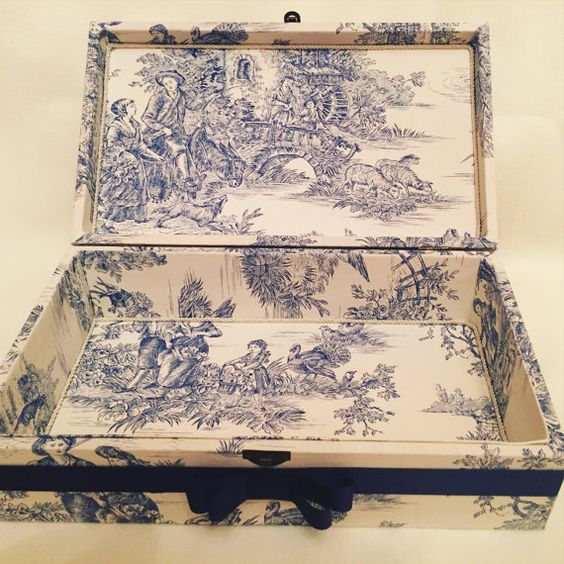 Toile de Jouy box by BoxandThings on Etsy