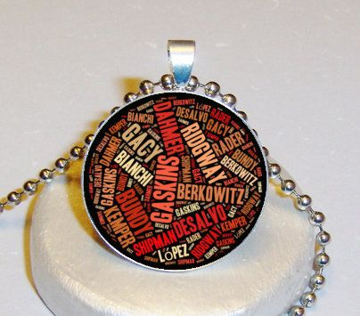 Serial Killer Necklace $5.00 - Personalized With Your Image $10.00 at www.pifs.etsy.com