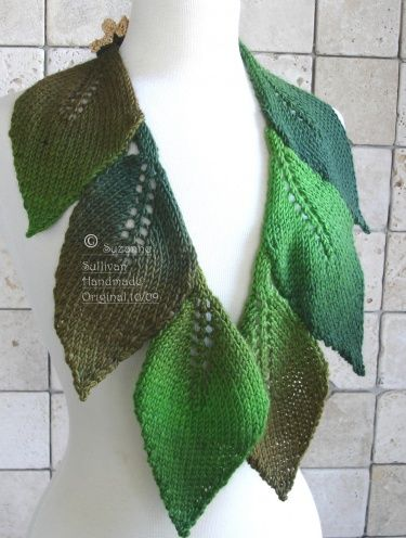 Knitting Pattern Leaf : leaf knitting patterns KNIT LEAF SCARF PATTERNS 1000 Free Patterns Top ...