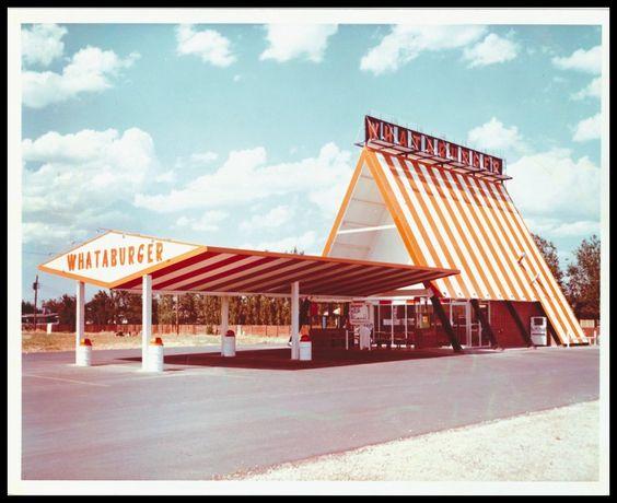 "The first ""Whataburger"" A-frame, Odessa, Texas"