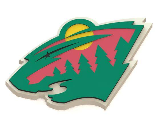 Minnesota Wild ice hockey team logo #MinnesotaWild #NHL #3Dmodel #logo #icehockey