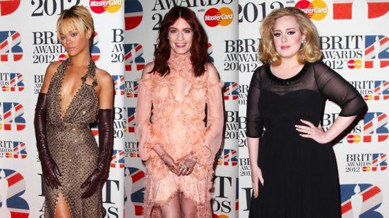 2012 Brit Awards red carpet looks.