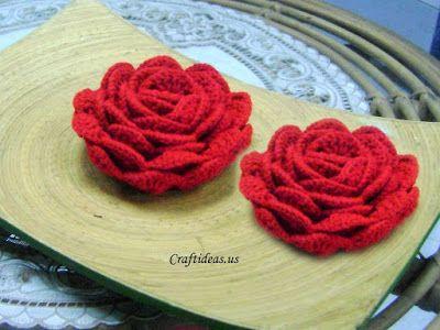 ergahandmade: Crochet Rose + Diagram + Free Pattern