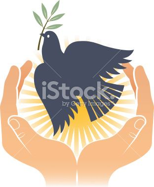 Bird of peace two. Royalty Free Stock Vector Art Illustration