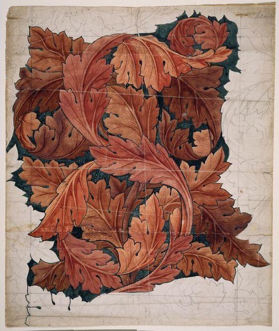 """Уильям Моррис. Дизайн для """"Acanthus"""" Pattern:"""