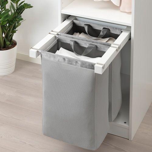 Komplement Sac De Rangement Coulissant Blanc 50x58x48 Cm Ikea Rangement Sac Rangement Salle De Bain Rangement