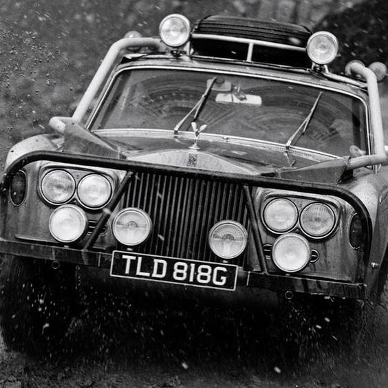Modified Rolls-Royce Silver Shadow runs a rally trial in the UK in April 1970. (Credit: Fox Photos/Getty Images) Read more at http://websta.me/p/996562010202730381_1038399634#66h4HXOL8wT22TQI.99