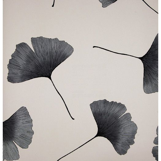 Marimekko Biloba 33' x 27'' Floral And Botanical Embossed Wallpaper | AllModern:
