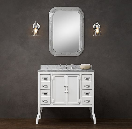 Marble Top White Vanity And Hardware On Pinterest