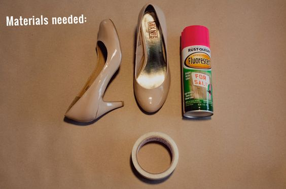 DIY: Neon Toe Shoes