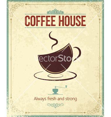 Coffee background vector - by Pushkarevskyy on VectorStock®