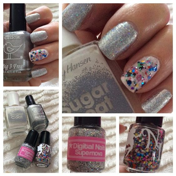 Chick Lacquer, Sally Hansen Sugar Coat, Digital Nails & Neverland Lacquers,