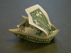 Dollar bill sailboat (FJ Contreras) Tags: money sailboat boat bill origami ship dollar folding orikane
